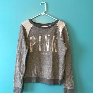 PINK Victoria's Secret Sweaters - Vintage VS Pink Gray Sweater